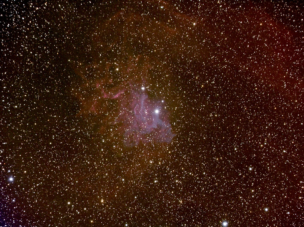 Flaming Star is an emission and reflection nebula in the constellation Auriga.