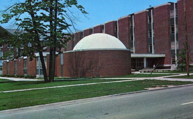 The ISU Planetarium as it appeared in 1964